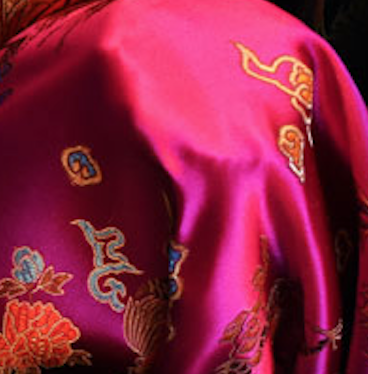 Fuschia Chinese Silk