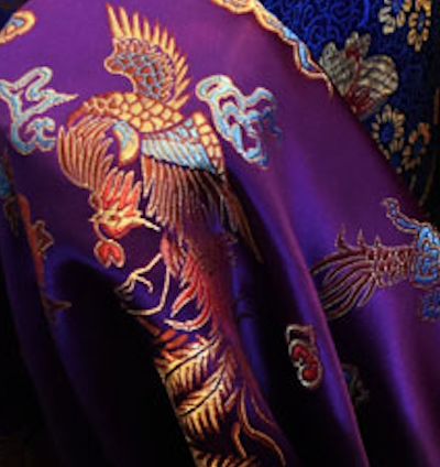 Purple Chinese Silk