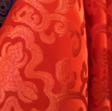 Red Stitching Chinese Silk