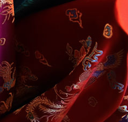 Red Chinese Silk